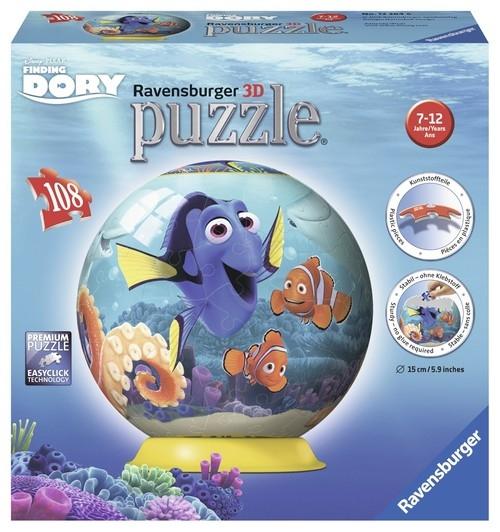 Puzzle 3D Kuliste Gdzie jest Dory 108 (122646)