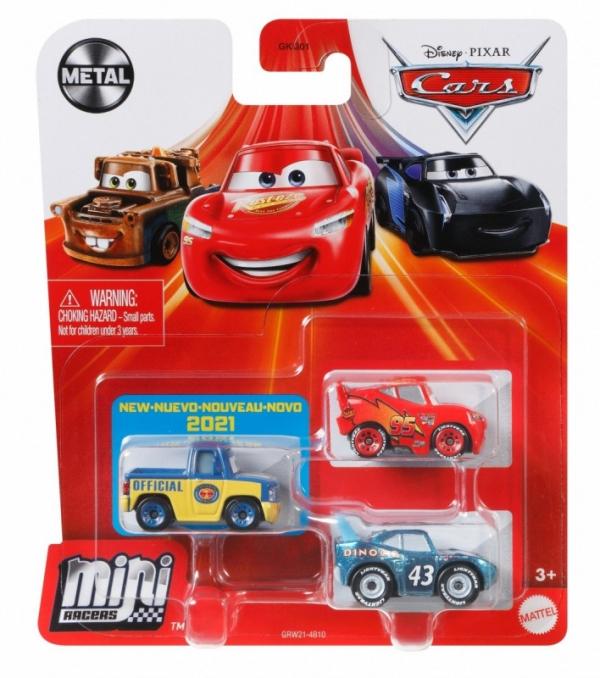 Pojazdy Auta 3-pak Zygzak McQueen, Hubert Rączy i Strip (GKG01/GRW21)