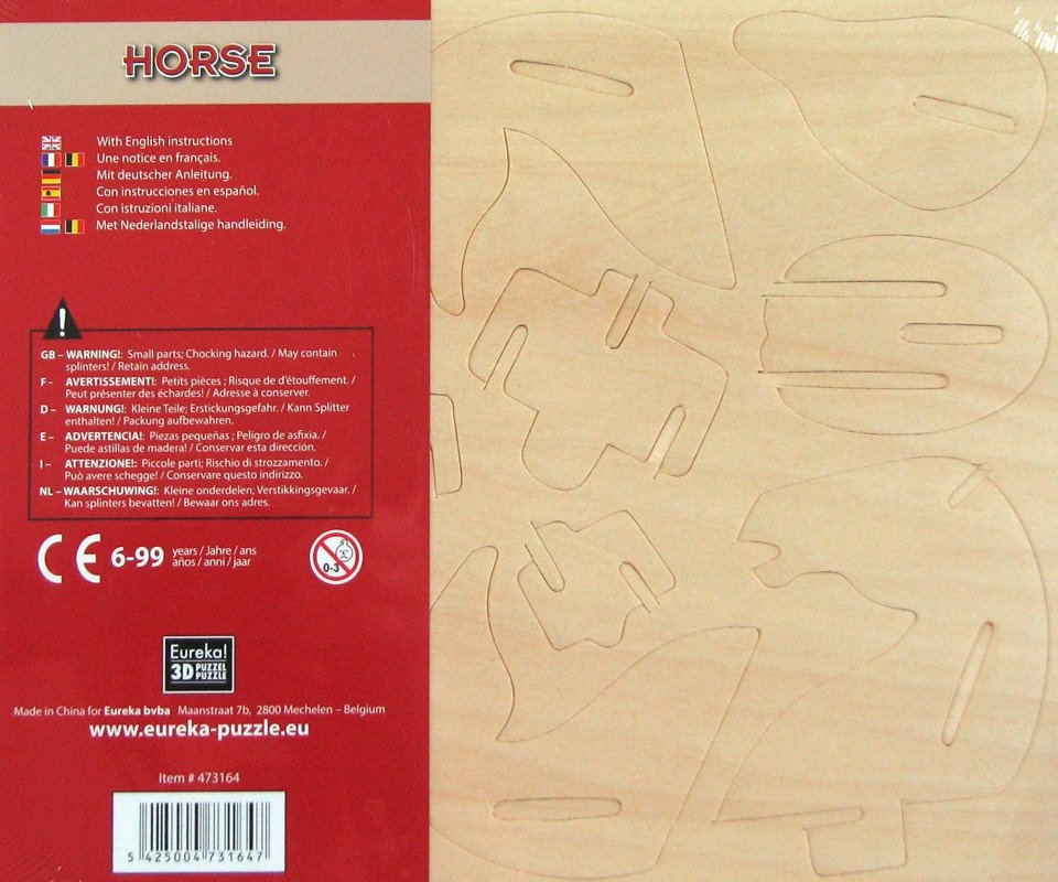 Łamigłówka drewniana Gepetto - Koń (105685)