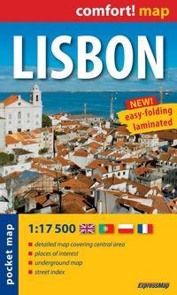 Lisbon laminowany plan miasta 1:17 500 mapa kieszonkowa - książka
