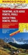 Trentino, Alto Adige, Veneto, Friuli mapa Marco Polo