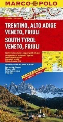 Trentino, Alto Adige, Veneto, Friuli mapa Marco Polo Opracowanie zbiorowe