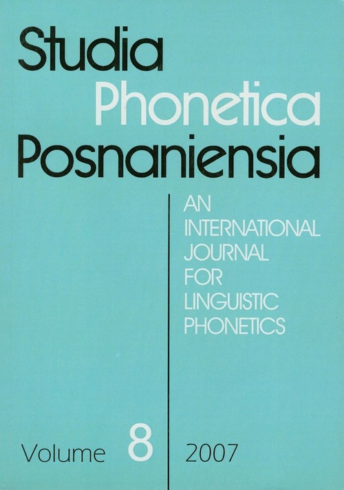 Studia Phonetica Posnaniensia 8 2007
