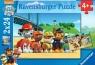 Puzzle 2 w 1. Psi Patrol Bohaterskie Szczeniaki 2x24 elementów (090648)