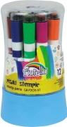 Pisaki Stemple 12 kolorów mix