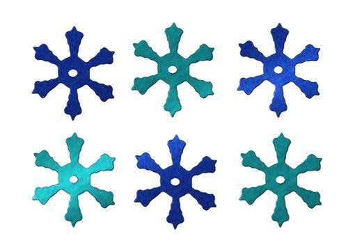 Konfetti 14g, płatki śniegu - niebieskie (284807)