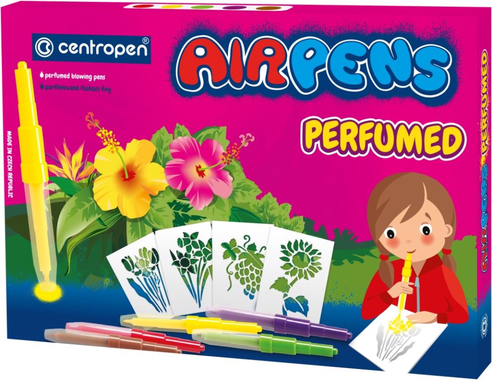Centropen: Airpens Parfumed 1589, 5 kolorów + 8 szablonów