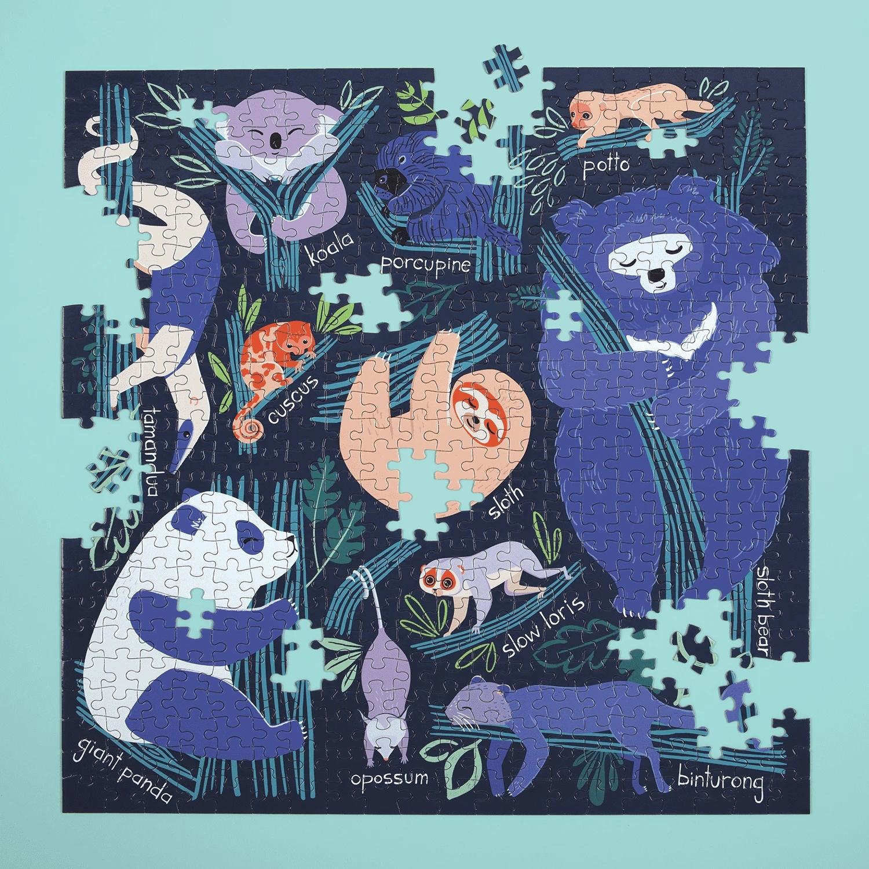 Mudpuppy, puzzle rodzinne 500: Drzemka w drzewach (MP57648)