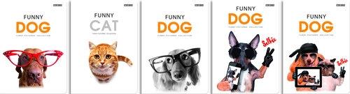 Zeszyt A5 Funny Animals w linie 60 kartek 10 sztuk mix