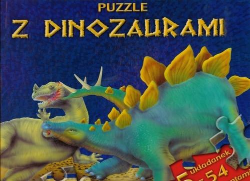 Puzzle z dinozaurami niebieska