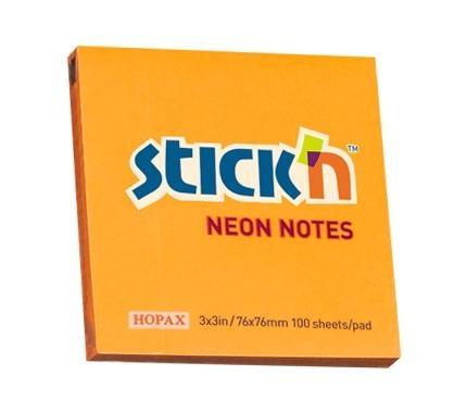 Notes samoprzylepny pomarańczowy neonowy