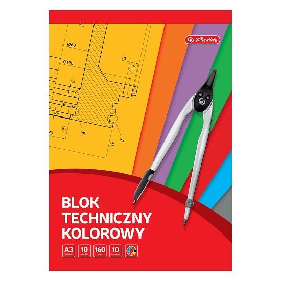 Blok techniczny A3/10 arkuszy - kolorowy