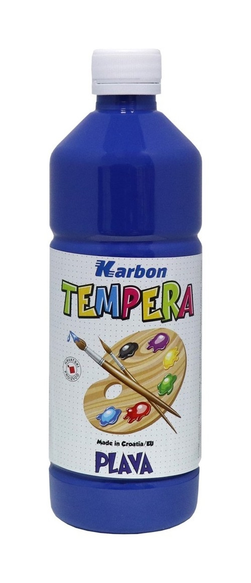 Farba tempera w butelce Karbon niebieska 550ml