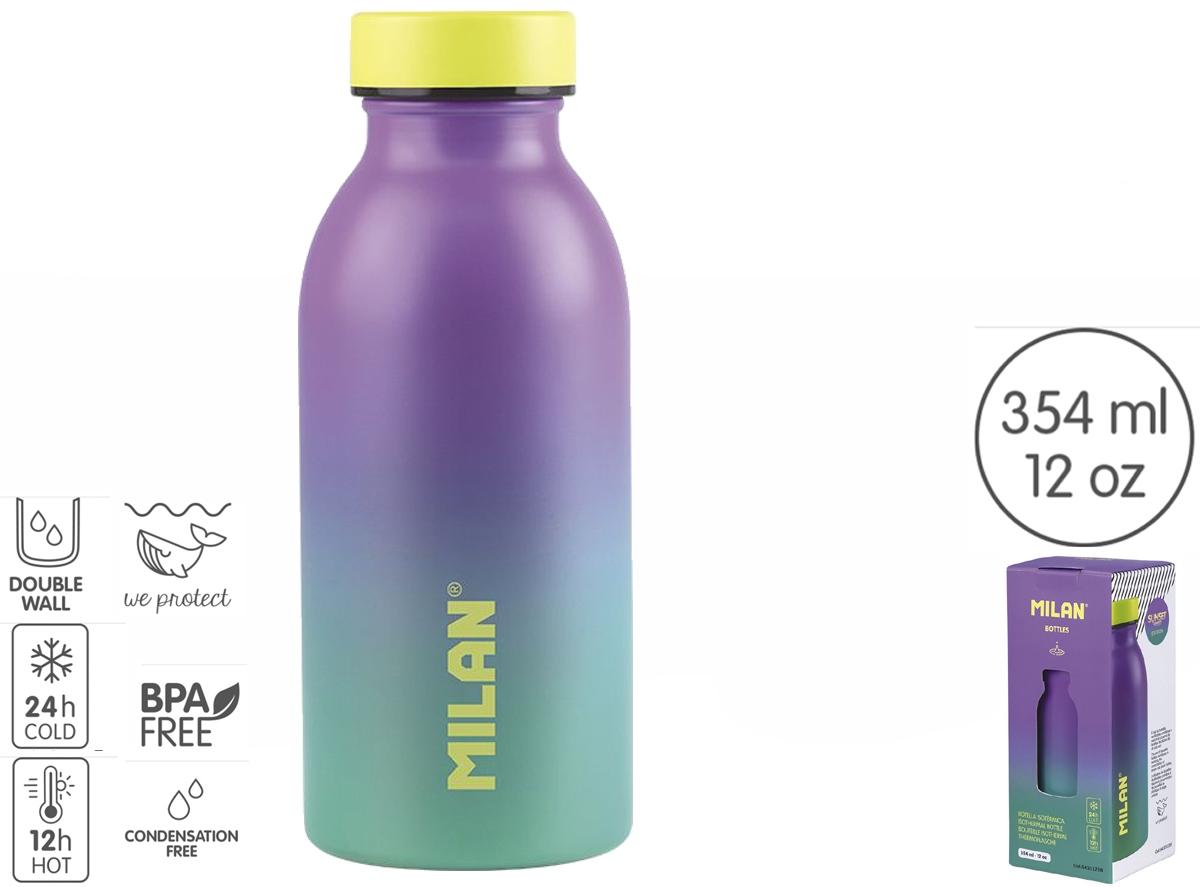 Butelka termiczna 345 ml Milan Sunset - fioletowo-zielona (643012SN)