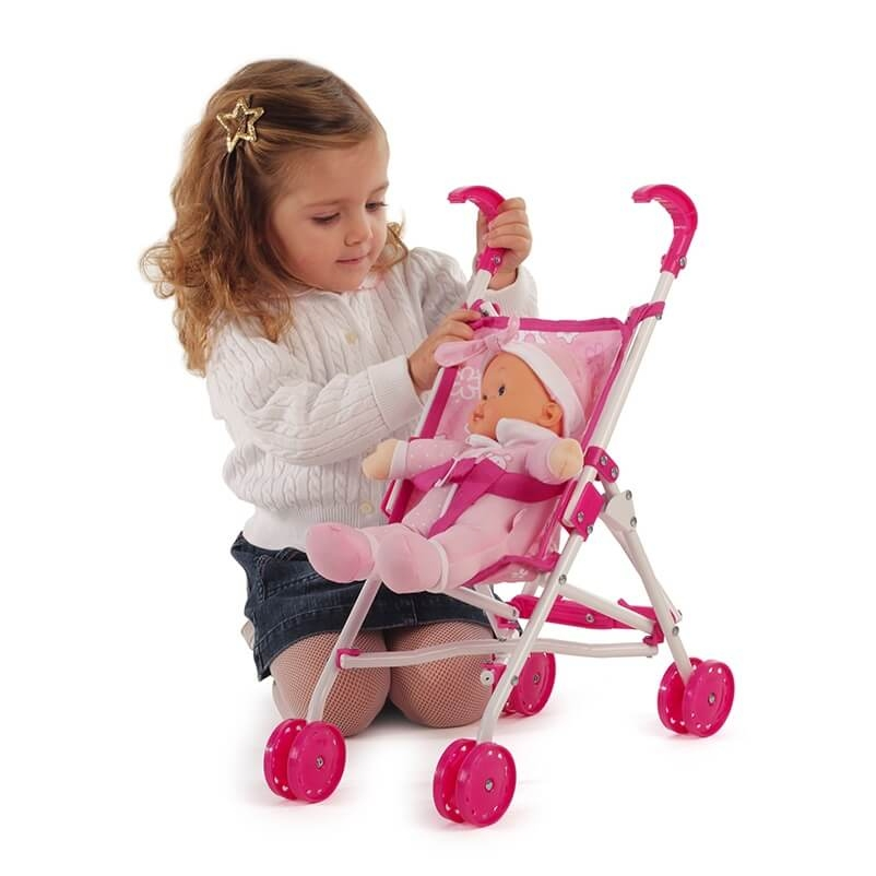 Lalka Bambolina z wózkiem