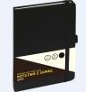 NotatnikA5/80K linia z gumką czarny GRAND
