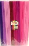Bibuła marszczona 25x200cm mix różowy 10 rolek