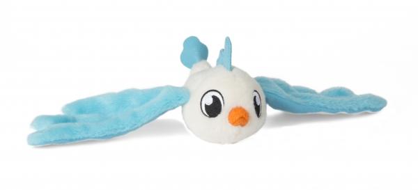 Bunnies Friends: Pluszowy ptaszek z magnesem - biało-niebieski (BUN 096943/097650)