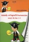 Zeszyt A5 Zasadt ortografii/matematyka 1-3 w trzy linie i w kratkę 32 kartki