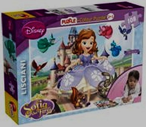 Sofia the First Puzzle + Colour 2 in 1 (43651)