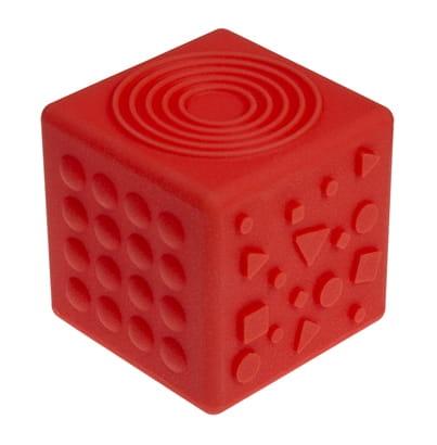 Tullo, Kostka sensoryczna 8,5 cm, czerwona (465)