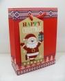 Torebka świąteczna płaska średnia Święty Mikołaj