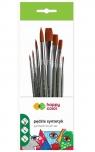 Pędzle syntetyk artystyczne Happy Color, 8 szt. (HA 7260 7261 PB8)