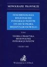 Fenomenologia regionalnej integracji państw Studium prawa międzynarodowego Tom 1