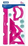 Zestaw elastycznych linijek Milan Acid - różowe (359801P)