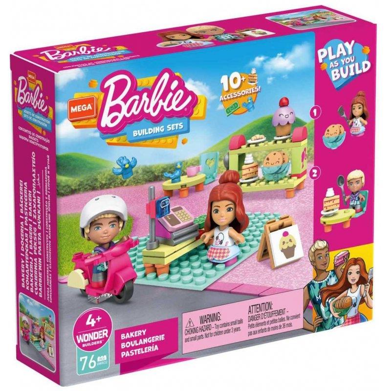 Mega Construx: Barbie, Cukiernia Zestaw klocków + 2 figurki (GWR32)