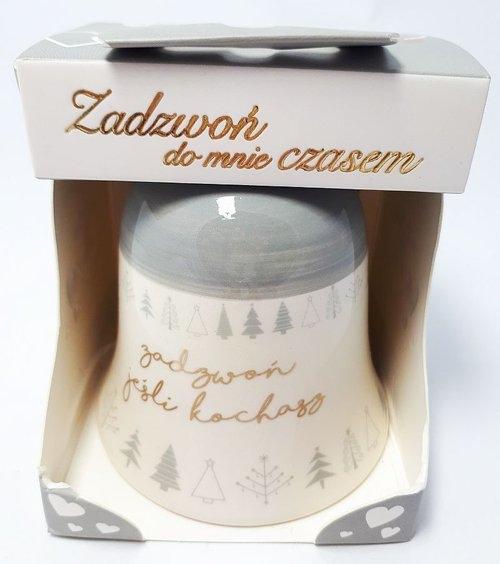 Dzwonek ceramiczny Zadzwoń jeśli kochasz