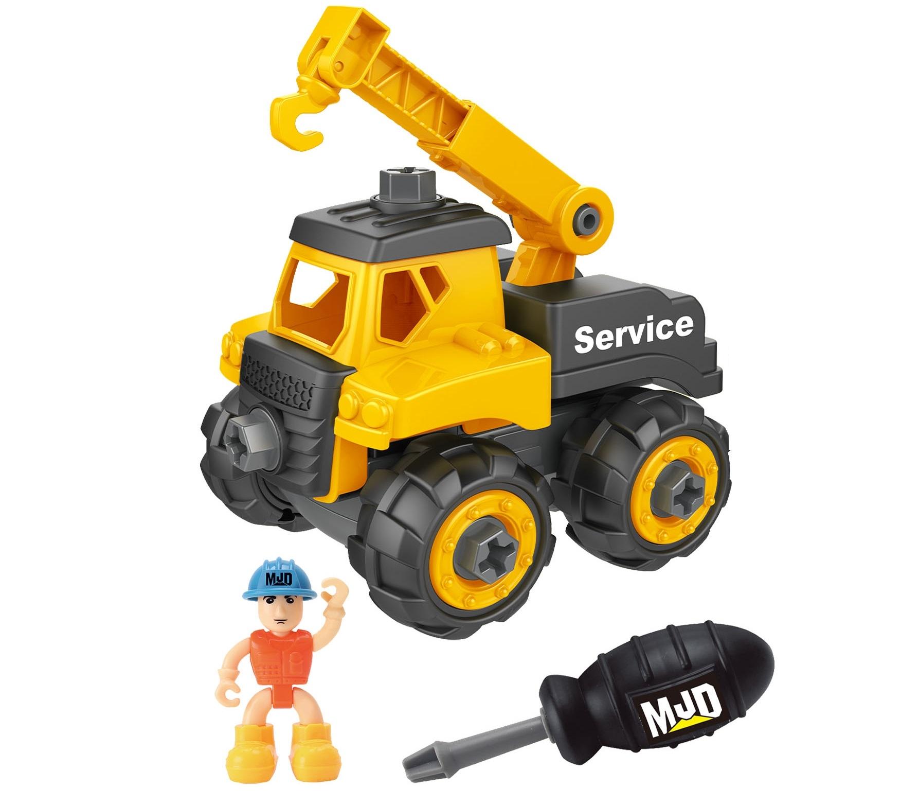 Pojazd budowlany do skręcania - dźwig (110653)