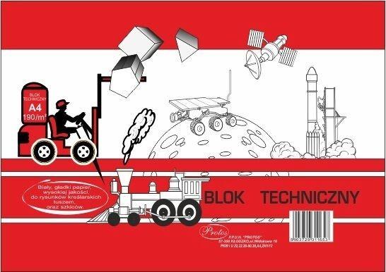 Blok techniczny A4/10k 190g/m² - biały (235807)