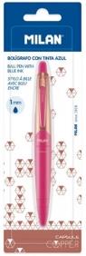 Długopis Capsule Copper Pink niebieski MILAN