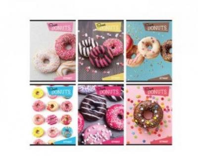 Zeszyt A5 Street Donuts 54 kartki w kratkę 10 sztuk