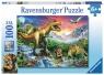 Ravensburger, Puzzle XXL 100: Epoka Dinozaurów (10665)