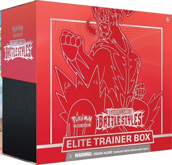 Karty Battle Styles Elite - Trainer Box Czerwony (80835/8357A)