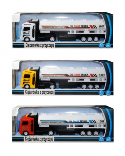 Ciężarówka w polskim opakowaniu ze światłem i dźwiękiem
