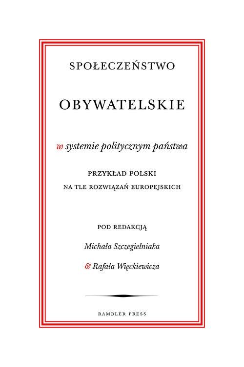 Społeczeństwo obywatelskie w systemie politycznym państwa