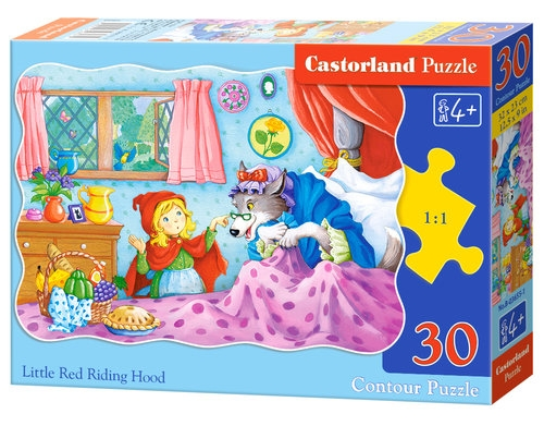 Puzzle konturowe 30:  Little Red Riding Hood
