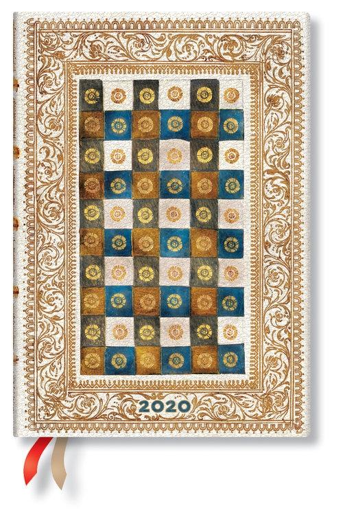 Kalendarz 2020 książkowy Midi Day at a Time Aureo 12m