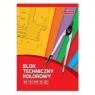 Blok techniczny A4/10k, kolorowy (9583659)