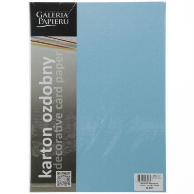 Papier ozdobny (wizytówkowy) Galeria Papieru dots kropki A4 - niebieski 230 g (204611)