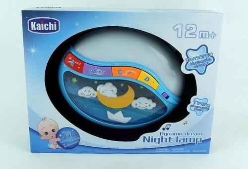 Lampka nocna z dźwiękiem i zmiennym światłem. Wiek: 1+