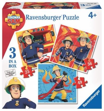 Puzzle 3w1 25-36-49: Strażak Sam (070657)