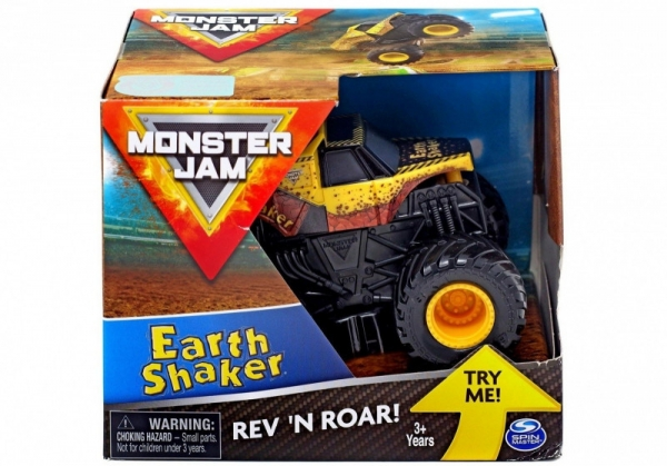Auto 1:43 Warczące opony, Earth Shaker Monster Jam (6044990/20105415). Wiek: 3+