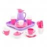 Zestaw naczyń Alisa z tacą na 4 osoby - różowy (40657)