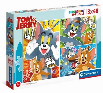 Puzzle 3x48 Super Kolor Tom&Jerry