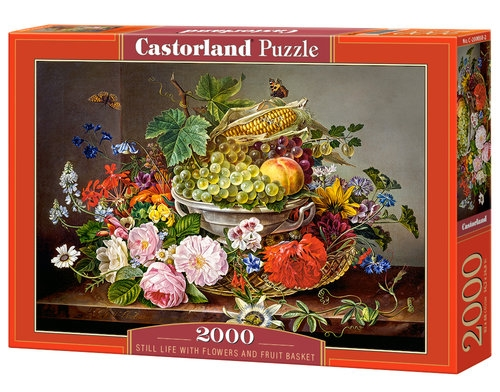 Puzzle Still Life with Flowers and Fruit Basket 2000 (C-200658)