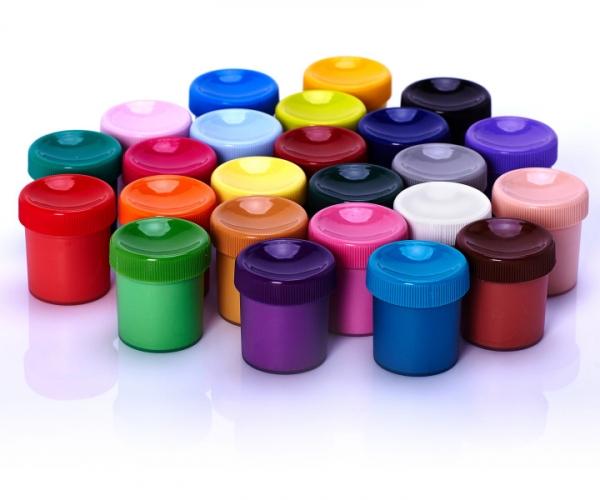Farby szkolne 24 kolory - 20 ml